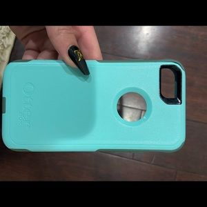 teal otter box iphone 7/ iphone 8 case